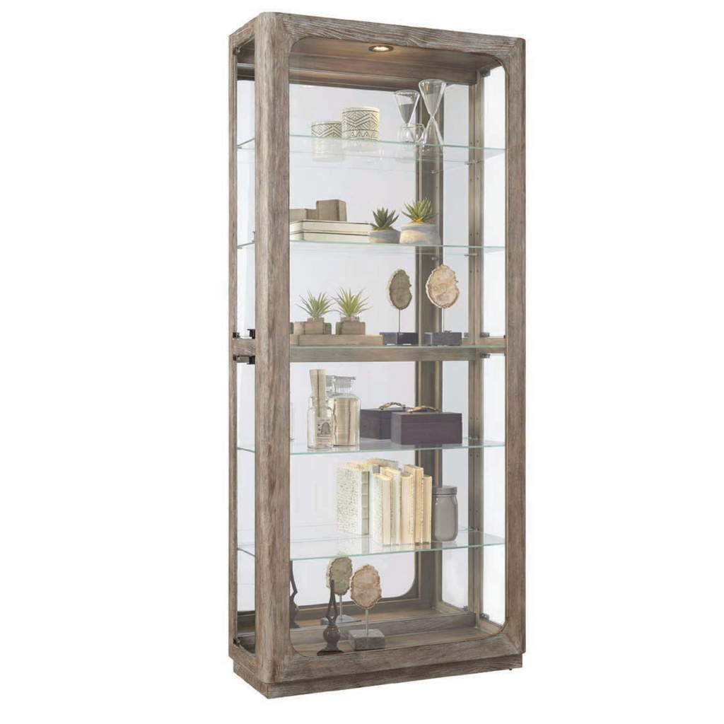Driftwood Side Entry Curio by Pulaski