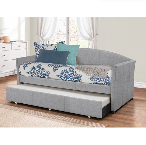 Westchester Daybed With Trundle Smoke Gray by Hillsdale