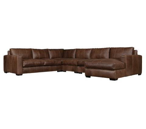 Dawkins 5-Piece Leather Sectional by Bernhardt