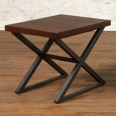 Crossing Rectangular End Table by Elements