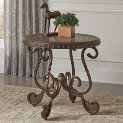 Rafferty Round End Table by Signature Design by Ashley