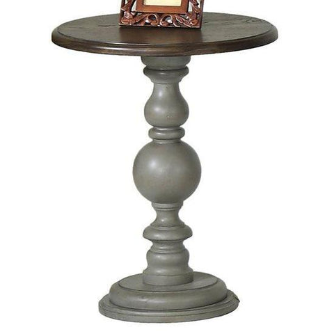 Colonades Pedestal Chairside Table by Progressive