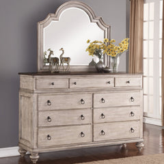Plymouth Dresser and Mirror by Flexsteel