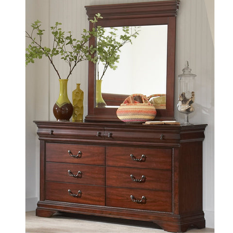 Chateau Dresser and Mirror by Largo