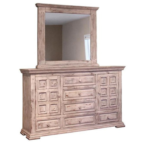 Terra White Dresser and Mirror by International Furniture Direct