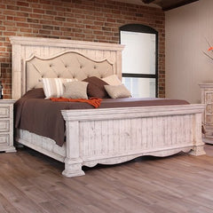 Terra White Bella King Bed by IFD