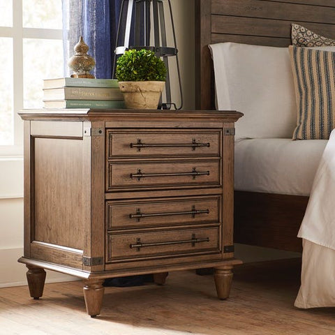 Farmhouse Chic 2-Drawer Nightstand by John Thomas Furniture