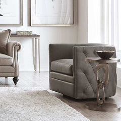 Palazzo Leather Swivel Chair by Bernhardt