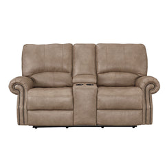 Prescott Power Reclining Loveseat with Console by Bassett