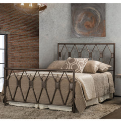 Tripoli Queen Metal Bed by Hillsdale