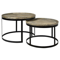 Bengal Manor Round Cocktail Tables by Crestview Collection