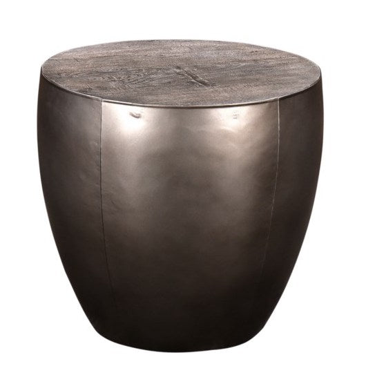 Bengal Manor Drum Base End Table by Crestview Collection