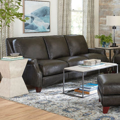 Greyson Leather Sofa by Bassett
