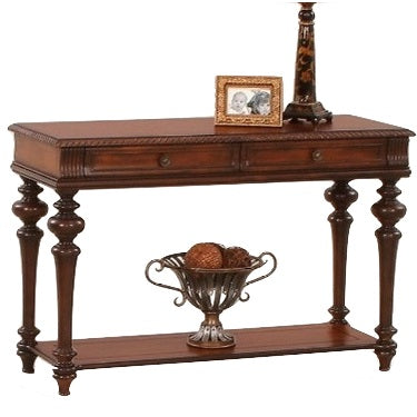Mountain Manor Traditional Sofa Table with Two Drawers by Progressive Furniture