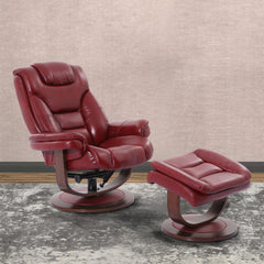 Monarch Swivel Recliner with Ottoman by Parker House