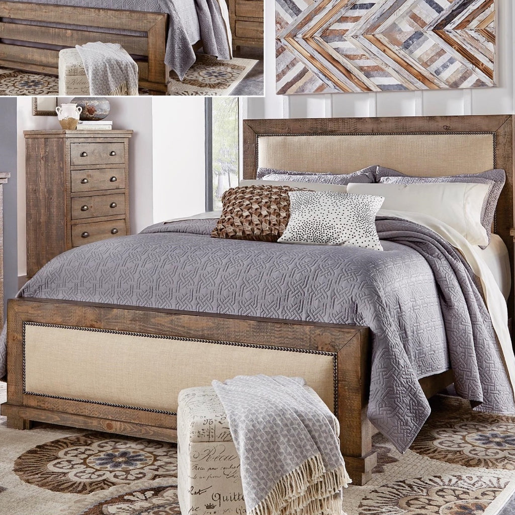 Willow Gray Queen Upholstered Bed by Progressive