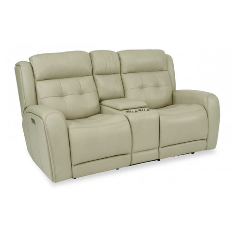 Grant Reclining Love Seat with Console by Flexsteel