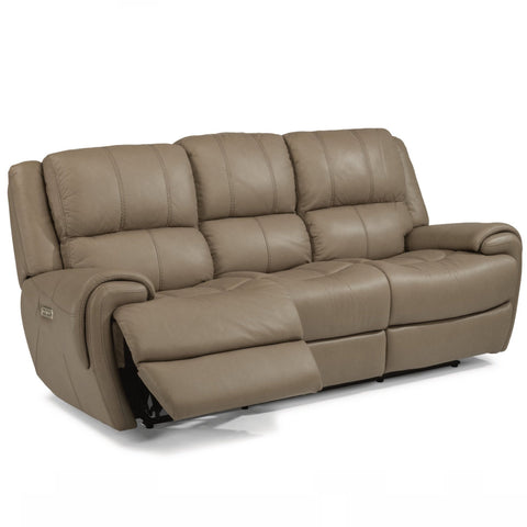 Nance Leather Power Reclining Sofa by Flexsteel