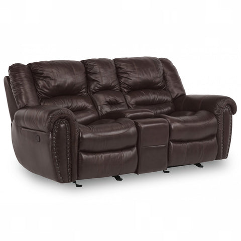 Town Reclining Loveseat with Console by Flexsteel