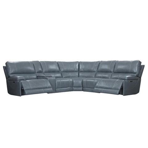 Whitman Verona Azure 6-Piece Sectional by Parker House