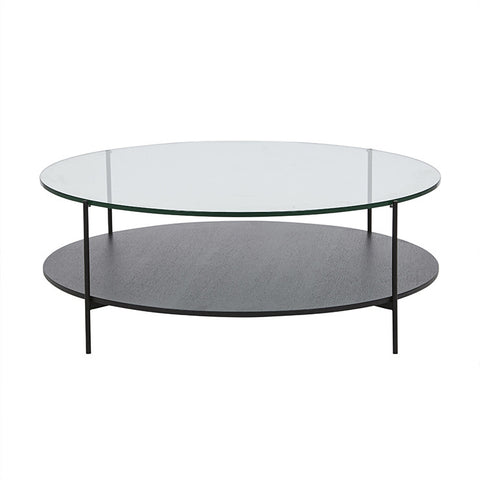 clermont layered coffee table black