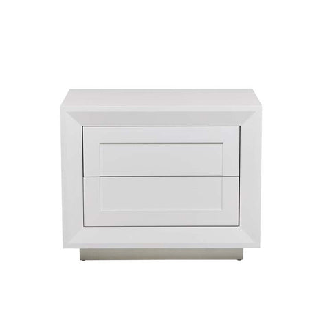 austin low bedside white ash