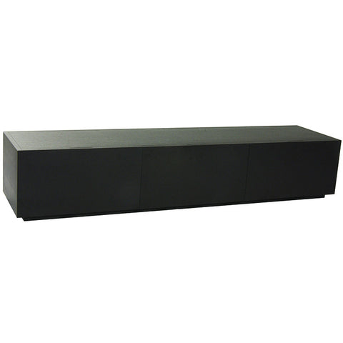 classique slim three entertainment unit dark matt oak