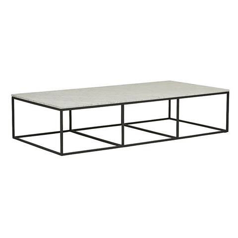 baxter platform white marble coffee table