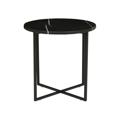 elle luxe marble side table black
