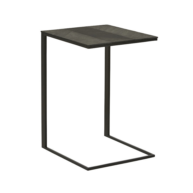 henley chevron occasional table black/black