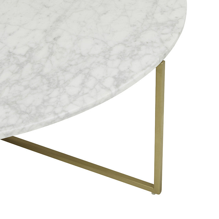 9b7c0f7f28ae elle luxe marble coffee table white on brushed gold frame – the ...