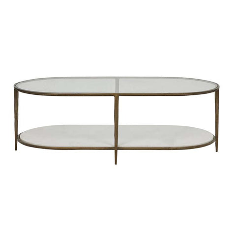 amelie oval coffee table marble
