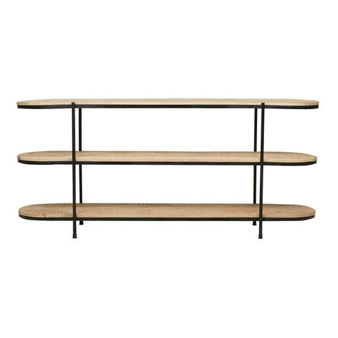 merricks shelf console black