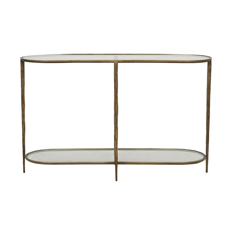 amelie oval console glass