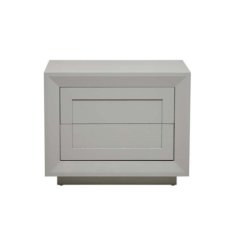 austin low bedside grey ash