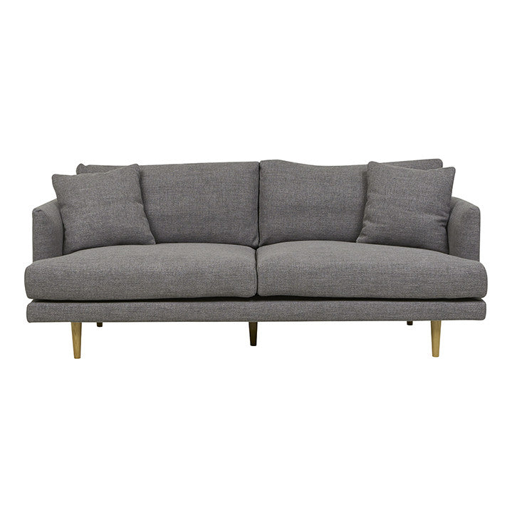 vittoria mia three seater sofa carbon grey