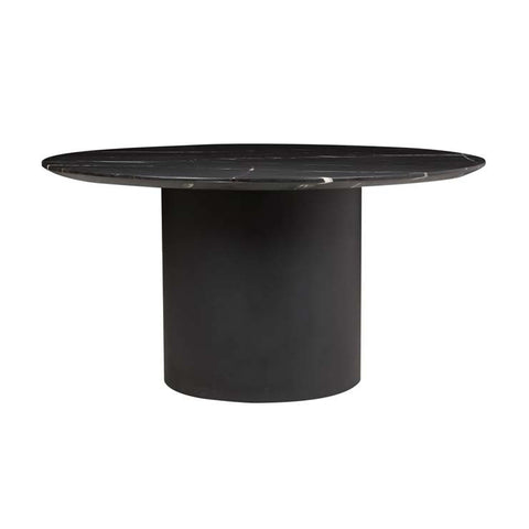 elle pillar dining table black 1500