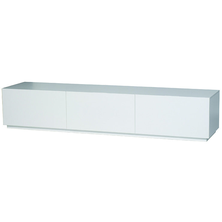 classique slim three entertainment unit white