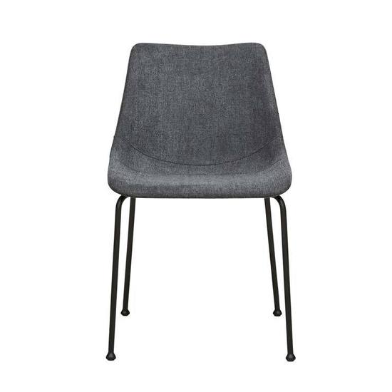 arnold straight dining chair charcoal metal