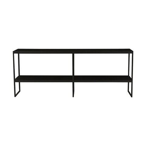 baxter shelf console black