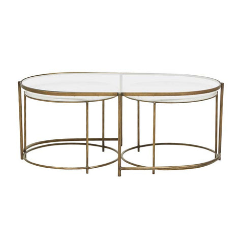 amelie nest coffee table brass