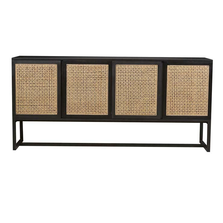 willow woven buffet ebony/natural