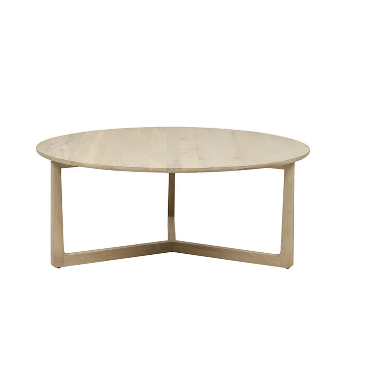 geo round coffee table natural oak