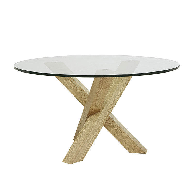 Hudson Round Dining Table Four Seat Natural Ash The Design Library