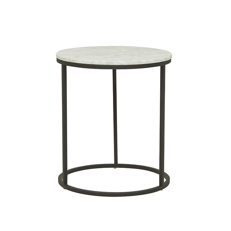 elle round side table black