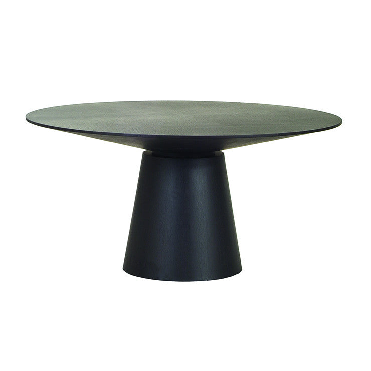 classique round dining table matt dark oak six seat