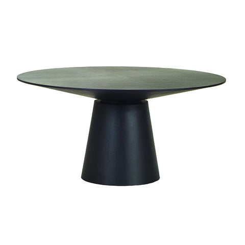 classique round dining table matt dark oak four seat