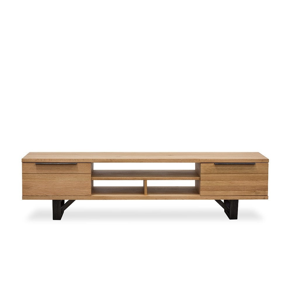 new yorker oak entertainment unit