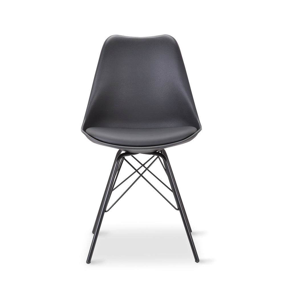 draker black dining chair