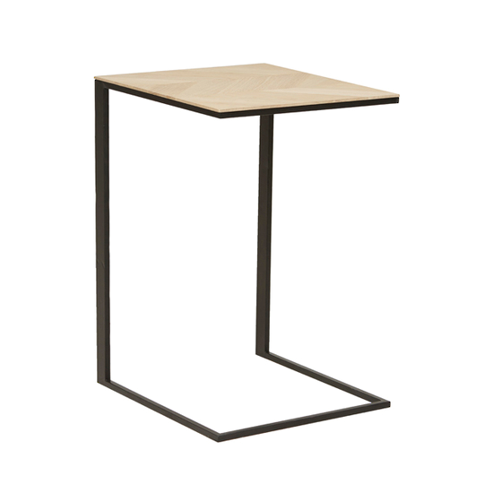 henley chevron occasional table black